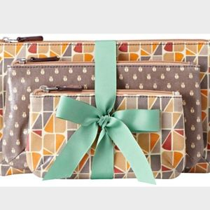 Fossil Handbag, Key-Per Prints Cosmetic Pouch Trio